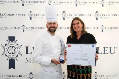 "Le Cordon Bleu Madrid recibe la  ""Medalla de Oro europea al mérito al trabajo"""