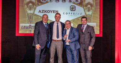 Grupo Azkoyen logra tres premios de la industria del Vending británico: innovación, mejor fabricante de máquinas y mejor máquina de sobremesa