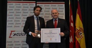 "Grupo Restalia, ""Premio a la Excelencia Empresarial 2019"""