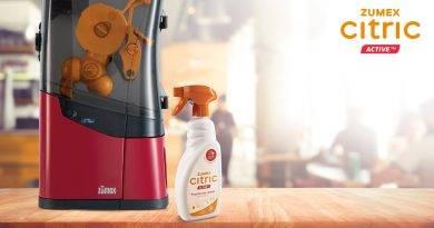 CITRIC ActiveTM de ZUMEX®, el primer producto de limpieza para exprimidoras profesionales