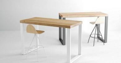 Nueva mesa y barra Kaiser de Cancio, el mobiliario contract a medida
