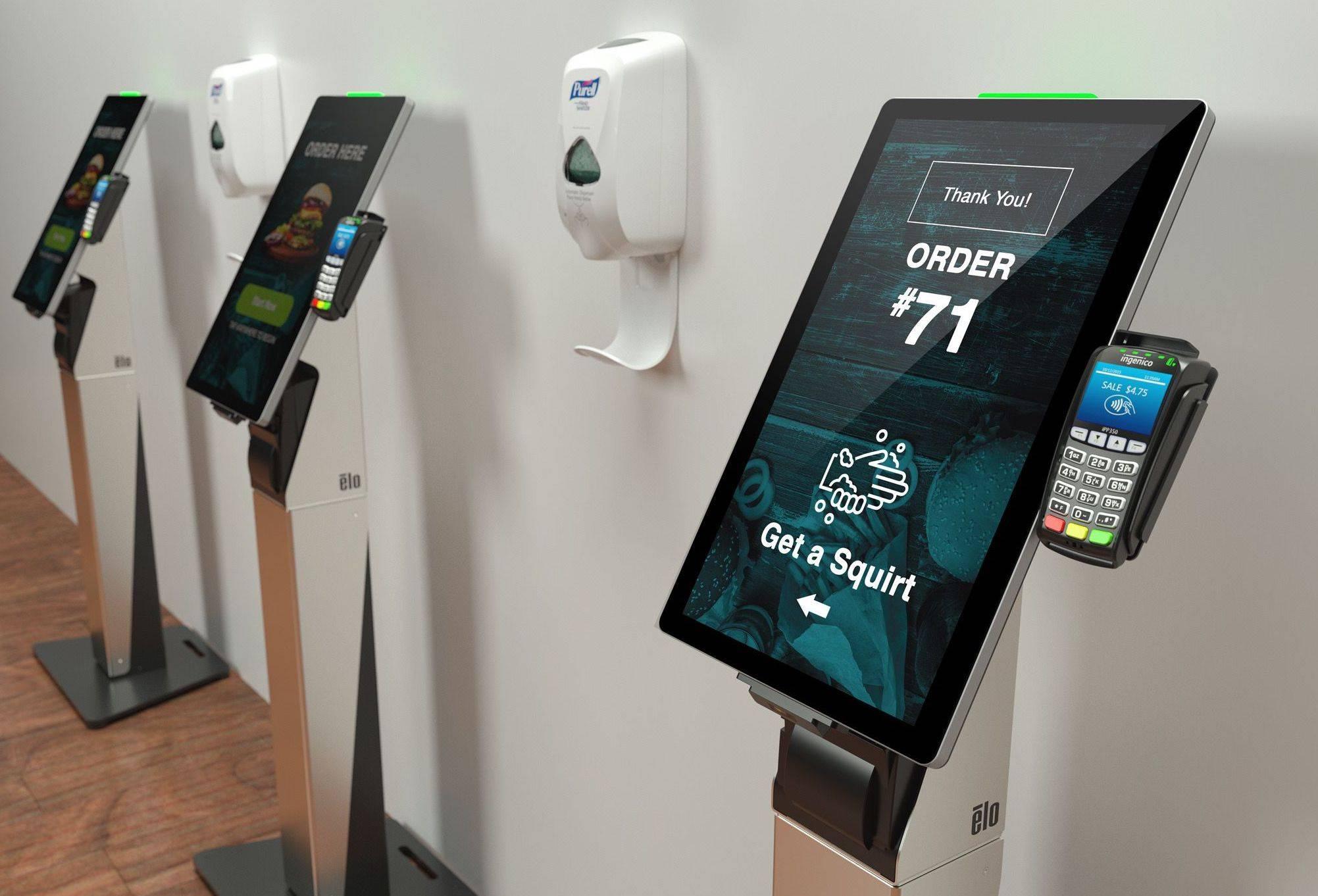 Stands para puntos de autoservicio y pago sin contacto | Tecnohoreca.com