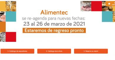 Alimentec ha sido reprogramada para el 2021