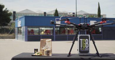 Restalia hace las primeras pruebas de reparto a domicilio con drones