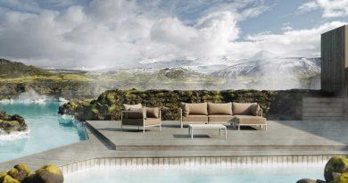 Mobiliario versátil para espacios exteriores con la colección 45 de Oiside